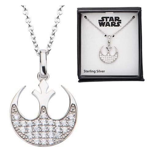 Rebel Bling - Star Wars Rebel Symbol Bling Sterling Silver Necklace
