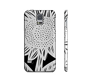 Beautiful-Diy Abeles Black White Samsung Galaxy S5 cell I2apGjxt23u phone case cover Flowers Botanical