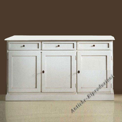 Möbel Buffet, Buffetschrank, Küchenbuffet, cm 155x44, h 86 - Holz, Klassisch, Italienischer Produktion