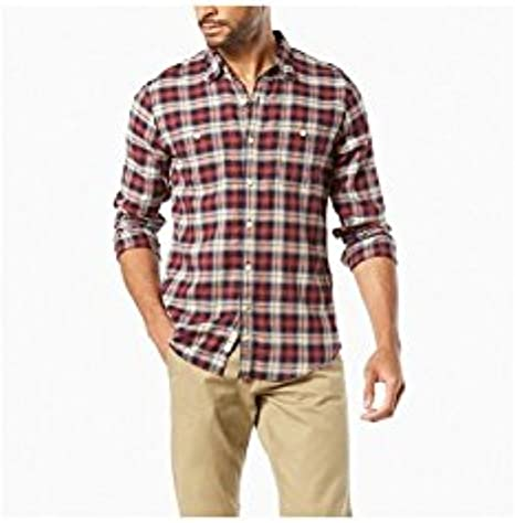 Dockers Wrinkle Twill Shirt LS Camisa para Hombre
