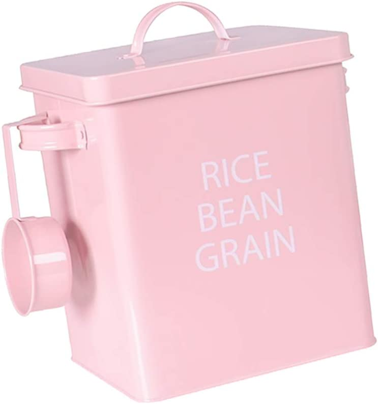 POPETPOP Cat Dog Food Storage Container Pet Food and Treat Container Storage with Spoon Storage Canister Tins