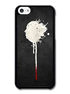 AMAF ? Accessories The Birds Movie Hitchcock Profile Illustration with Blood case for iPhone 5C