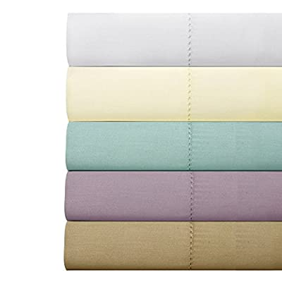 Weavely Hemstitch 100-percent Cotton 300 Thread Count Sheet Set with Bonus Pillowcases (6-piece Set)