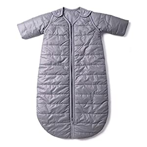 baby deedee Sleep Nest Travel Quilted Baby Sleeping Bag Sack with Sleeves, Gray Skies, Medium (6-18 Months)