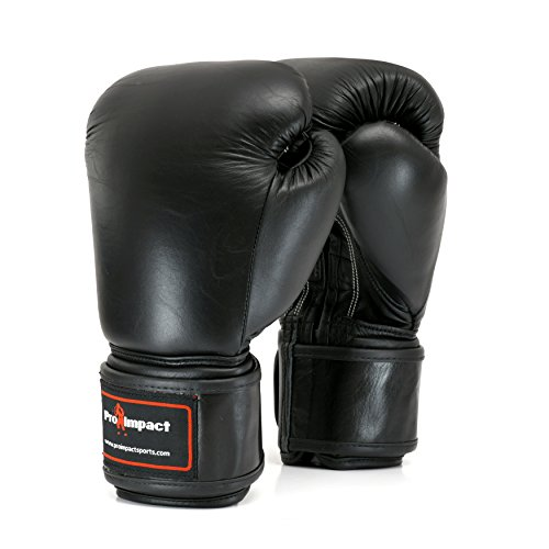 (Genuine Leather Boxing Gloves Black 16 Oz. Pro Impact ($80 Value))