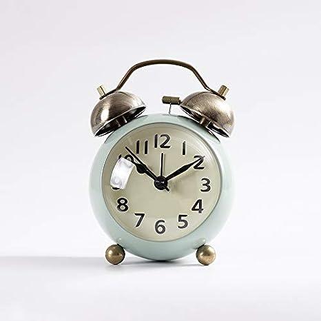 yzdhha Metal Pequeño Reloj Despertador Estudiante con El ...