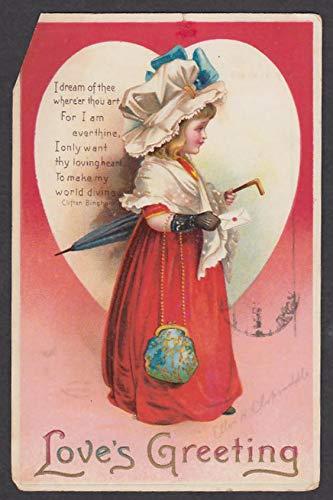 Ellen H Clapsaddle Love's Greeting embossed Valentine postcard 1912