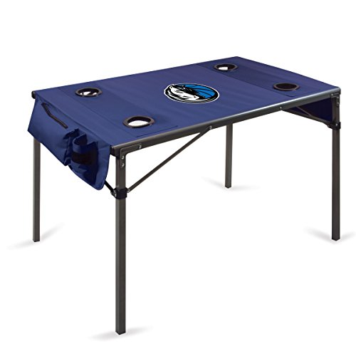NBA Dallas Mavericks Portable Soft Top Travel Table, Navy