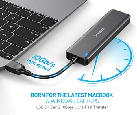 ElecGear USB 3.1 Gen2 Caja de Carcasa para NVMe PCIe M.2 SSD, EL ...