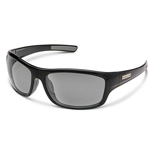 Suncloud Cover Polarized Sunglasses, Black, Gray
