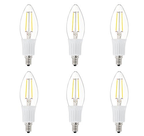 6 Pack DC 12V Chandelier Candle Cool White 6000k 2W LED Edison Filament C35 Light Bulb E12 MES Mini Base Lamp Low Voltage String Pendant Outdoor Landscaping Post Rail Porch Lighting - Installing Outdoor Lamp Post