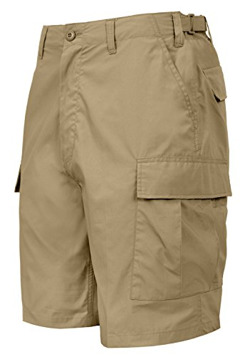Rothco Lightweight Tactical BDU Shorts, XL, Khaki