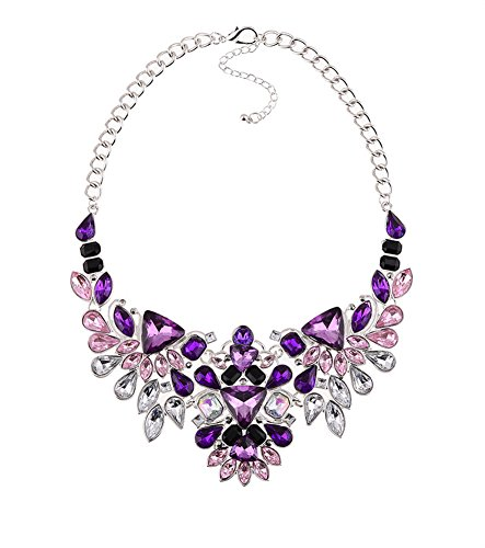 JewelryLove Statement Necklaces Rhinestone Necklace