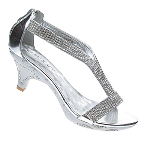 Sandals Lety Rhinestone 73 Event Womens Silver Dress aFXra