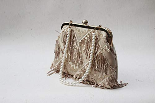 Women Party Evening Sequin Clutch Tassels Designer Handbags Bag with Purse Wedding for EROUGE zA6qpvwff