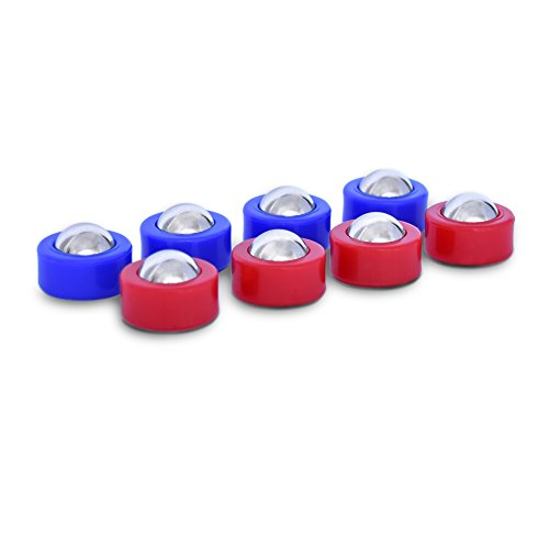 GoSports Shuffleboard and Curling Mini Rollers Replacement Set of 8 - Rebound Board