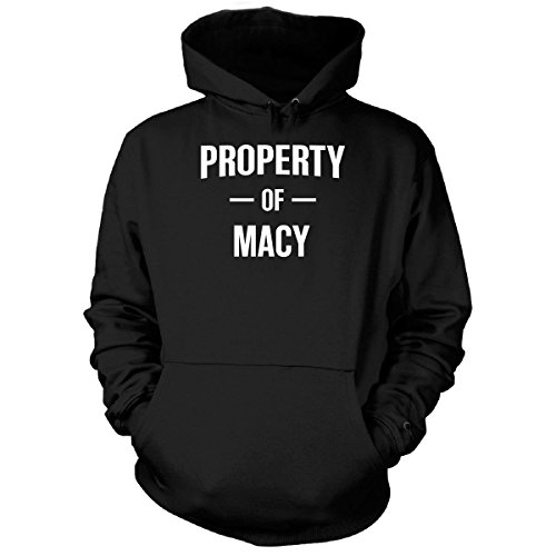 Property Of Macy Gift For him - Hoodie Black - Him Gifts Macy's For