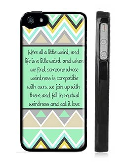Dr Seuss Weirdness Love Quote Iphone 5 Case Mint Blue And Green