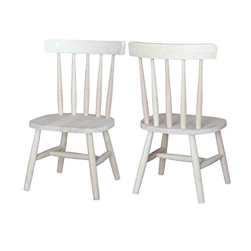 International Concepts 1124P Pair of Tot's Chairs, - Unfinished Child Rocking Chair