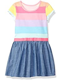The Children's Place Girls' Her Li'l Knit to Woven Dress