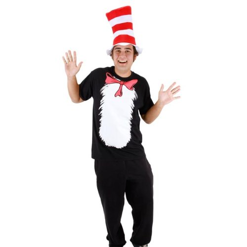 Elope Adult Cat In The Hat T-Shirt and Hat (Cat In The Hat T Shirts Adults)