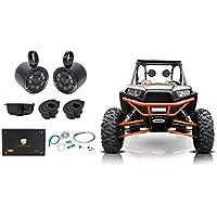 (2) Kicker 6.5 Rollbar Speakers+4-ch Amp+Bluetooth Contol ATV/UTV/RZR/Polaris