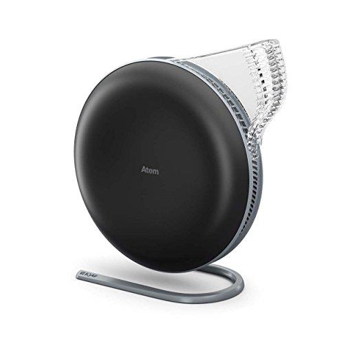 IQAir [Atem Desk Personal Air Purifier] [HyperHEPA Filter] Allergies, Pets, Asthma, Pollen, Dust; Swiss Made (Black)