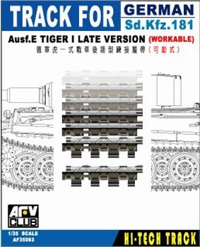 Track Links Afv Club - Tiger I Late Version SdKfz 181 Ausf E Workable Track Links 1-35 AFV Club