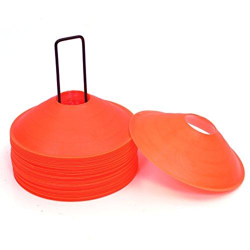 "Cintz 2"" Matte finish Orange Cones, Set of 40 in a stand"