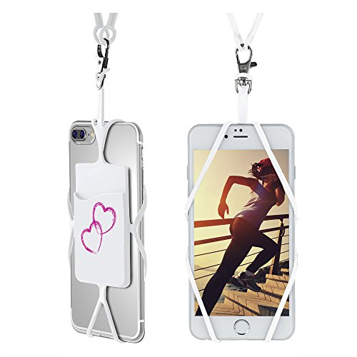 Cell Phone Lanyard Strap, Gear Beast Universal Smartphone Case Cover Holder Lanyard Necklace Wrist Strap W/ID Card Slot For iPhone X 8 Plus 8 7 Plus 7 Galaxy S9 Plus S9 S8 Plus S8 Note 8 5 & More by Gear Beast