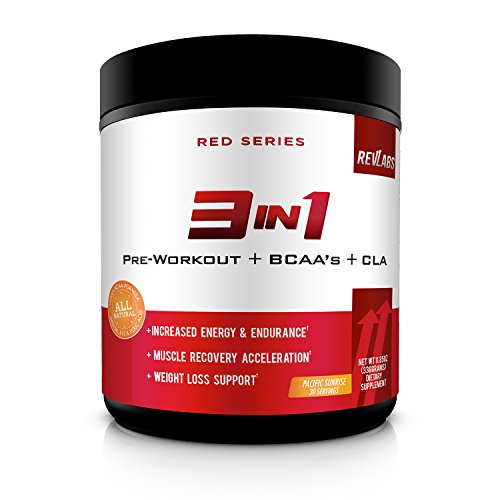 3 in 1 Preworkout + BCAA's + CLA - Energy, Endurance, Weight Loss, Recovery - Vegan - 30 Day Supply
