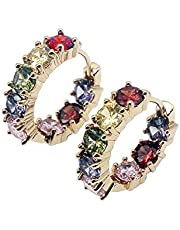 Women Silver Earrings Rose Gold Earring Garnet Peridot Amethyst Morganite Ideal Gift Choice