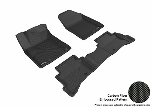 (3D MAXpider L1HY07801509 Complete Set Custom Fit All-Weather Kagu Series Floor Mats in Black for Select Cargo Liner for Hyundai Ioniq Plug-in Hybrid Models)