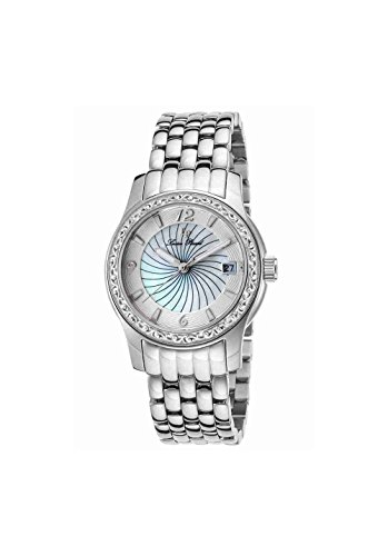 Lucien Piccard Women's 'Merrel' Quartz Stainless Steel  Watch, Color:Silver-Toned (Model: LP-40029-22-MOP)