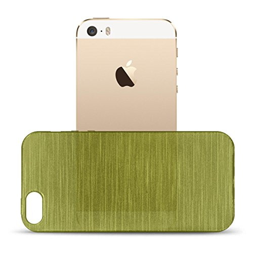 iPhone SE, 5S, 5 Silikon Hülle, Conie Mobile Brushed Case Schlanke Schutzhülle TPU Handyhülle Backcover Rückschale in Grün