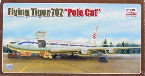 Minicraft 1:144 Flying Tiger 707 Pole Cat Plastic Model Kit #14504 ()