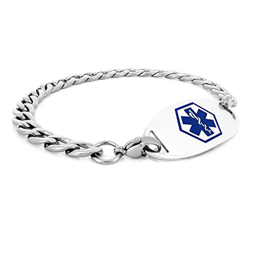 Amazon #DealOfTheDay: 316L Surgical Stainless Steel Medical ID Curb Bracelet