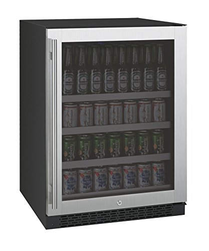"""Price comparison product image Allavino FlexCount VSBC24-SSRN - 24"""" Wide Beverage Center - Stainless Steel Glass Door"""