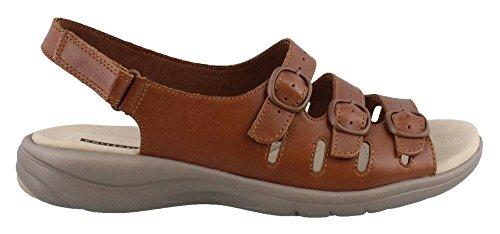 CLARKS Quartz Womens Leather Sandals 5 Tan Saylie B6UqwvBA
