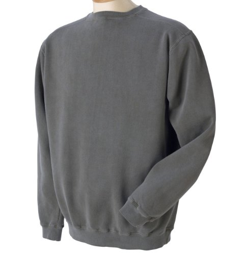 Authentic Pigment 1975 Pigment-Dyed Crew Neck-Smoke-Small