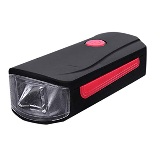 - Lljin USB Rechargeable Speaker Cycling Bicycle Light Riding Oversized Vocal Headlight (Red)