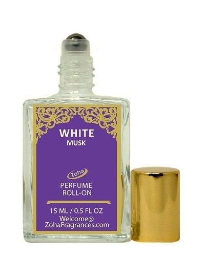 White Musk (Roll-On) White Musk Oil Perfume by Zoha Fragrances, 15ml/0.5fl Oz