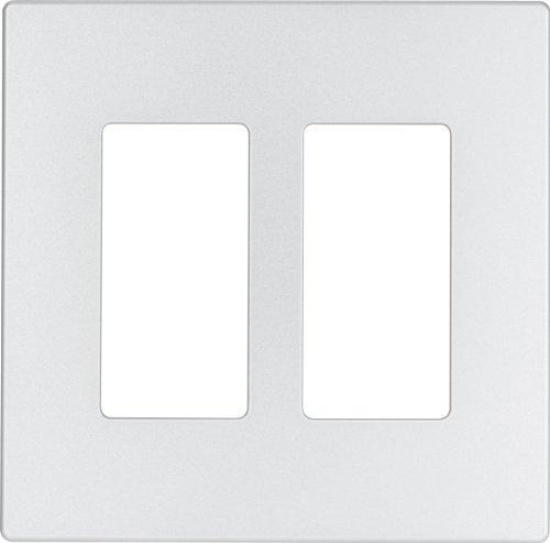 eaton-9522sg-aspire-screwless-wallplate-2-gang-silver-granite