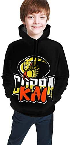 OSCAR CURTIS Unisex Kids Hoodies Sweaters Funny Graphics Snake Kai 3D Printed Pullover Clothes with Pocket for Teens