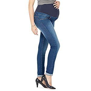Milano Basic - Jeans Premaman Basico, Super Elastico e Comodo, vestibilità Skinny, Lavaggio Basic, Tanti Colori - Made… 21