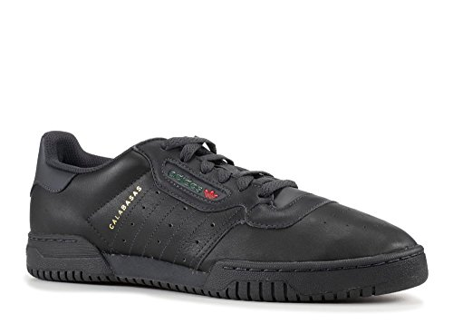 adidas Originals Yeezy Powerphase Mens Trainers Sneakers (UK 9 US 9.5 EU 43 1/3, Black sup col CG6420)