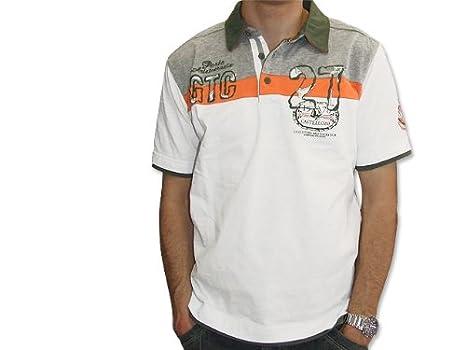 großer Rabatt Steckdose online wähle das Neueste GIN TONIC Poloshirt Männer in Weiß - Poloshirt kurzarm ...