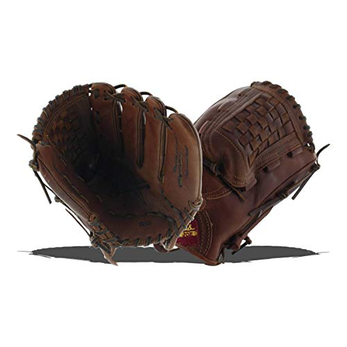 Shoeless Joe 12.5-INCH Basket Weave Pocket Adult Baseball Glove Brown Right Hand Throw