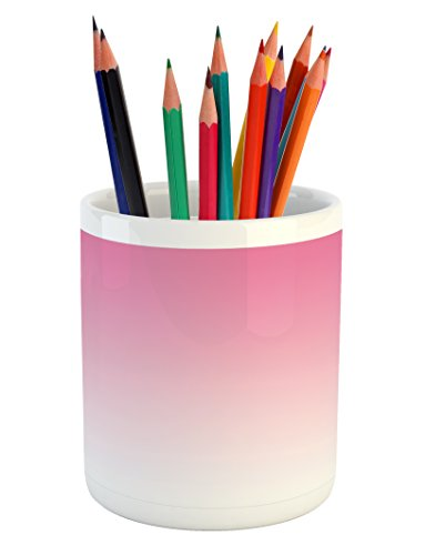 Ambesonne Ombre Pencil Pen Holder, Dreamy Pale Pink Waterfal
