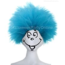 Blue Fuzzy Funny Costume Wig HM-050